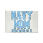 Navy Mom and Proud of it Rectangle Magnet (100 pac