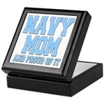 Navy Mom and Proud of it Keepsake Box