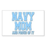 Navy Mom and Proud of it Rectangle Sticker 10 pk)