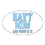 Navy Mom and Proud of it Oval Sticker (50 pk)