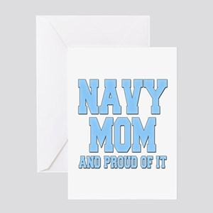 Navy Mom and Proud of it Greeting Card