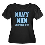 Navy Mom and Proud of it Women's Plus Size Scoop N