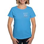 Navy Mom and Proud of it Women's Dark T-Shirt