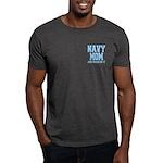 Navy Mom and Proud of it Dark T-Shirt