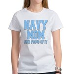 Navy Mom and Proud of it Women's T-Shirt
