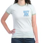 Navy Mom and Proud of it Jr. Ringer T-Shirt