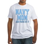 Navy Mom and Proud of it Fitted T-Shirt