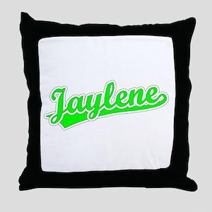 Retro Jaylene (Green) Throw Pillow