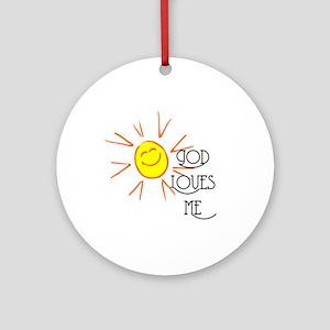 God Loves Me Ornament (Round)