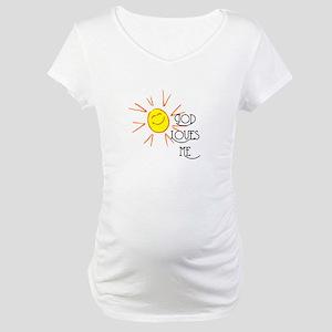 God Loves Me Maternity T-Shirt