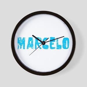 Marcelo Faded (Blue) Wall Clock