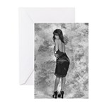 Black on Black Tracy Greeting Cards (Pk of 10)