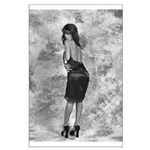 Black on Black Tracy Large Poster
