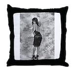 Black on Black Tracy Throw Pillow