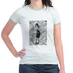 Black on Black Tracy Jr. Ringer T-Shirt