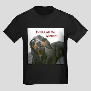 Who U Callin Wiener Kids Dark T-Shirt