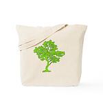 Green Tree Canvas Reusable Tote Bag