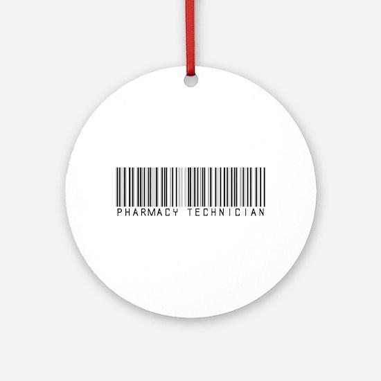 Pharmacy Technician Barcode Ornament (Round)
