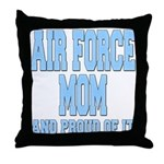 Air Force Mom Throw Pillow