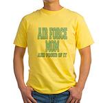 Air Force Mom Yellow T-Shirt