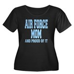 Air Force Mom Women's Plus Size Scoop Neck Dark T-
