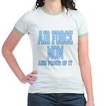 Air Force Mom Jr. Ringer T-Shirt