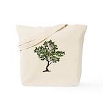 Green Tree Reusable Canvas Tote Bag