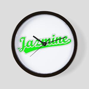Retro Jazmine (Green) Wall Clock