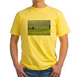 Mailbox and Field Scenic Yellow T-Shirt