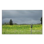 Mailbox and Field Scenic Rectangle Sticker 50 pk)