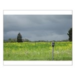 Mailbox and Field Scenic Small Poster