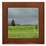 Mailbox and Field Scenic Framed Tile