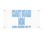 Coast Guard Mom Proud of it Banner