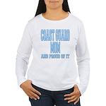 Coast Guard Mom Proud of it Women's Long Sleeve T-