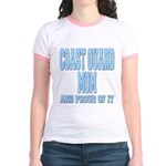 Coast Guard Mom Proud of it Jr. Ringer T-Shirt