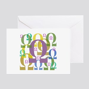 Omega Greeting Card