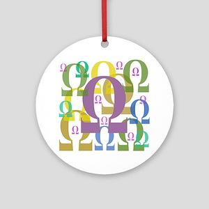 Omega Ornament (Round)