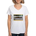 Banana Slug in Forest Women's V-Neck T-Shirt