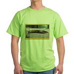Banana Slug in Forest Green T-Shirt