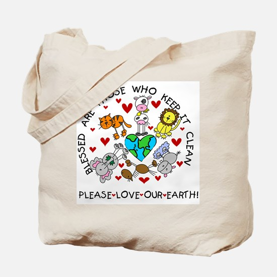 Earth Friendly Animals Tote Bag