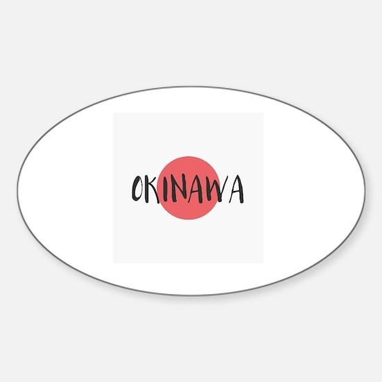 Cute Okinawa Sticker (Oval)