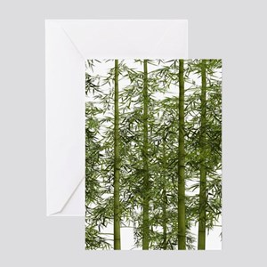 zen trees chinese bamboo Greeting Cards