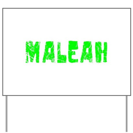 Maleah Faded (Green) Yard Sign