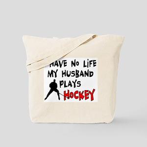 No Life Husband Hockey Tote Bag