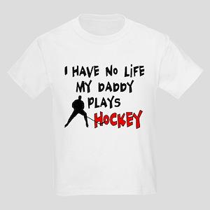 No Life Daddy Hockey Kids Light T-Shirt
