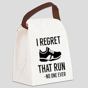 I Regret That Run Canvas Lunch Bag