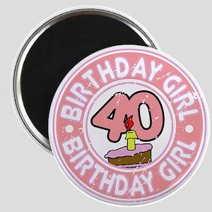 Birthday Girl #40 Magnet