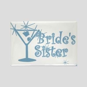 Blue C Martini Bride's Sister Rectangle Magnet