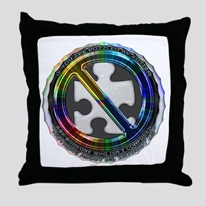 Unconfused Throw Pillow