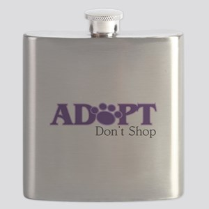 Adopt Don't Shop In Purple Flask